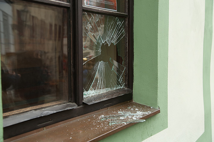 A2B Glass are able to board up broken windows while they are being repaired in Brixton.